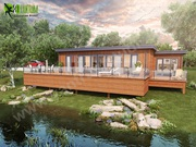Fantastic Beach side Lodge exterior with natural landscape animation