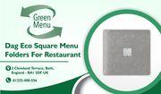 Dag Eco Square Menu Folders For Restaurant